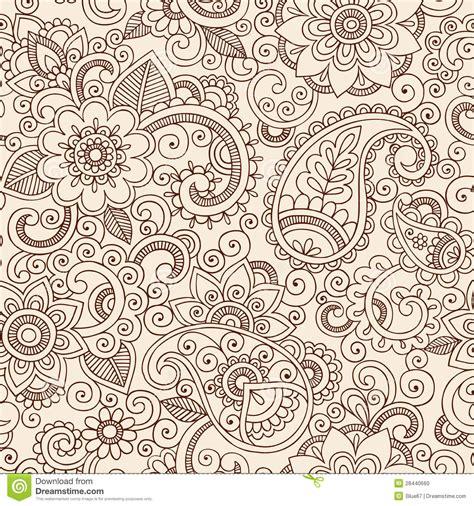 henna tattoos gefährlich nahtlose henna paisley flowers pattern vector illu
