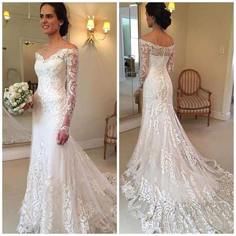 2018 Gorgeous Lace Long Sleeve Mermaid Wedding Dresses