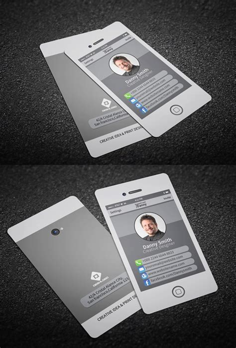 iphone business card template psd free iphone business card psd template images card design and