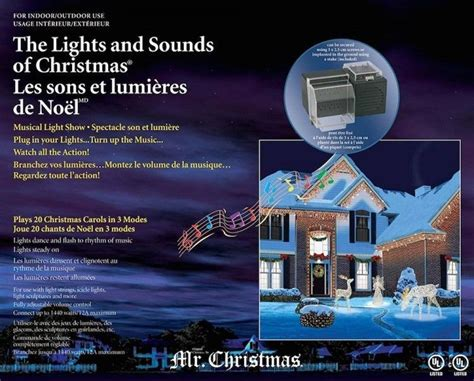 mr christmas lights and sounds holiday musical light show