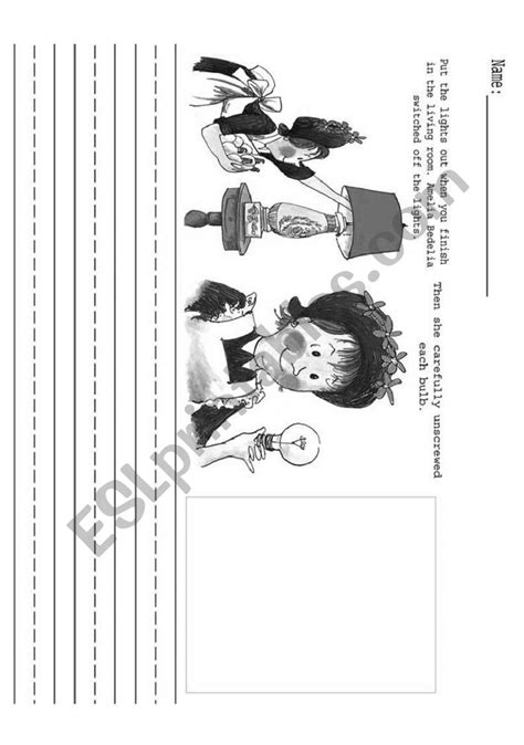 Making Predictions with Amelia Bedelia - ESL worksheet by