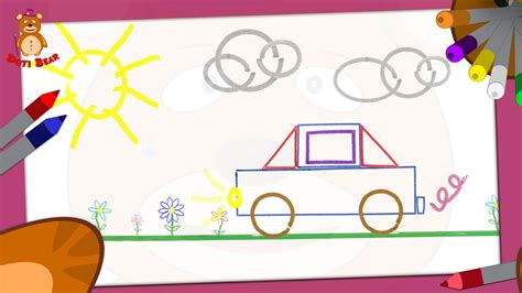 Drawing Using Shapes by Doti Learning Shapes How To Draw A Car
