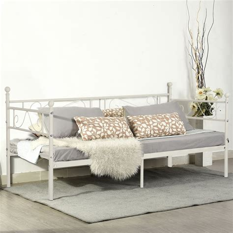single metal futon sofa bed with mattress white 3ft single day bed scrub metal guest bed frame sofa