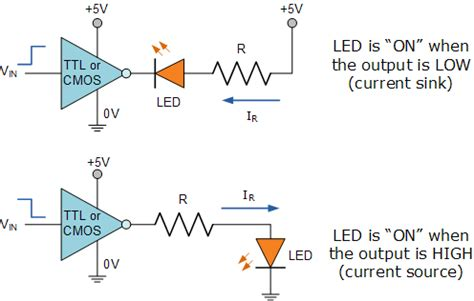 diode led schematic light emitting diode or the led tutorial