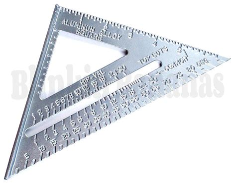 Triangle 8 8 Inchi By Alroy 7 quot roofing speed square aluminium alloy rafter angle