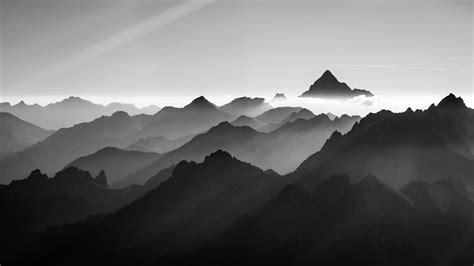 black and white mountain wallpaper black and white mountains in fog alexi kunstler