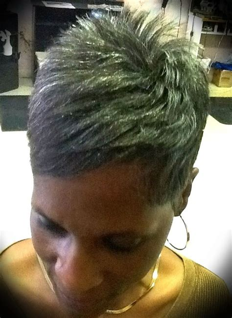 photos of salt and pepper bob hairstyles for black women 1665 best images about pixie haircuts on pinterest short