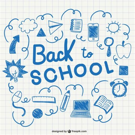 free doodle vectors back to school doodles sketch vector free
