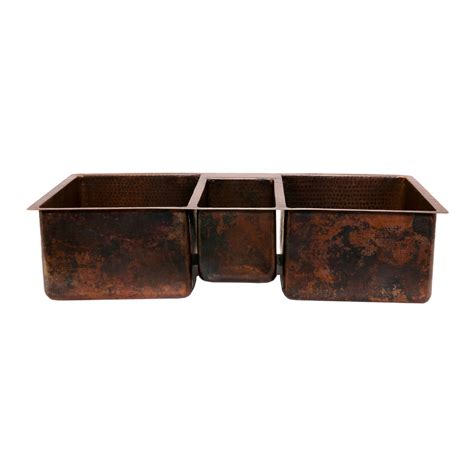 copper drop in kitchen shop premier copper products oil rubbed bronze 3 copper