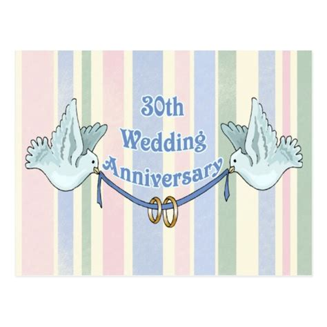 anniversary gifts for 30th wedding anniversary 30th wedding anniversary gifts postcard zazzle