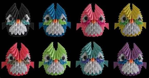 3d origami mini owl tutorial 3d origami mini owles my next project can t wait to