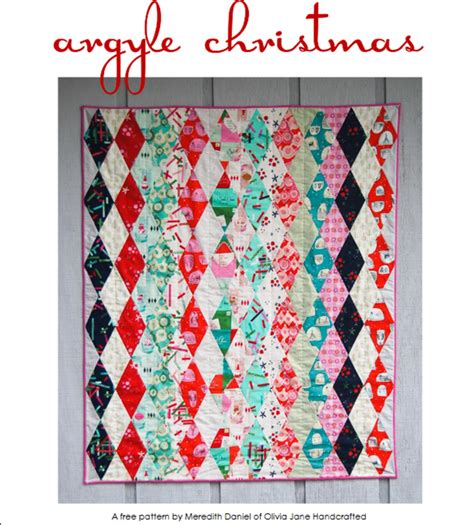 Argyle Quilt Pattern Free by Free Pattern Argyle Quilt Quilting