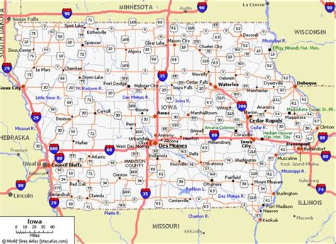 printable road map of iowa road map of iowa my blog