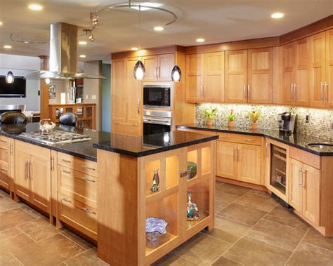 Modern Light Oak Kitchen Cabinets Quotes Light Oak Kitchens