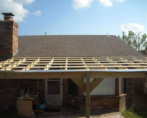 Building A Patio by How To Build A Patio Cover With A Corrugated Metal Roof