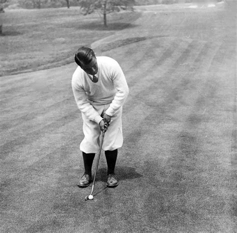Sports Duvet Covers Gene Sarazen Playing Golf Photograph By International Images