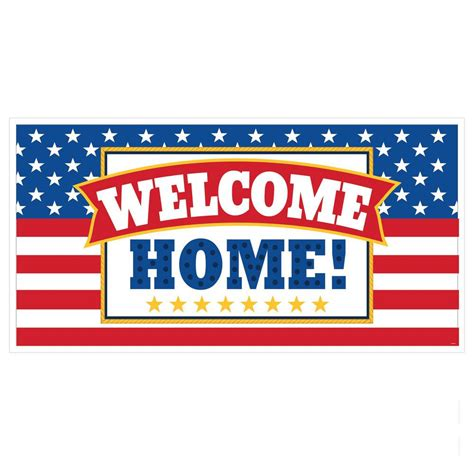 33 5 in x 65 in welcome home banner 5 pack