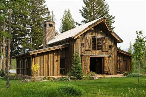 rustic cabin in swan valley made mainly of wood and