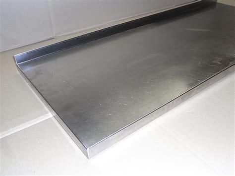 arbeitsplatte 40 cm edelstahl arbeitsplatte mit aufkantung anrichtplatte