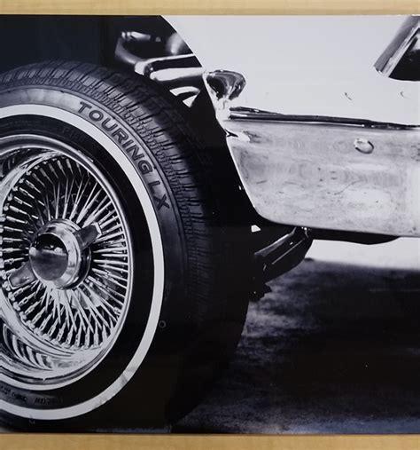 aluminum print black  white lowrider wire