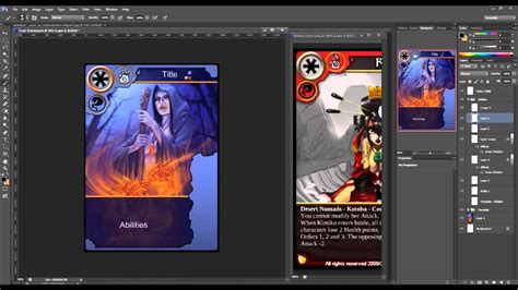 design game photoshop how to create trading cards in photoshop youtube