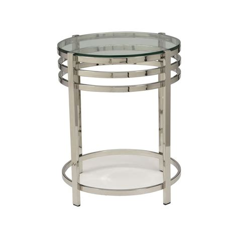 Ethan Allen Side Table Ethan Allen Nickel Side Table 399 Dimensions 18 Quot Dia X