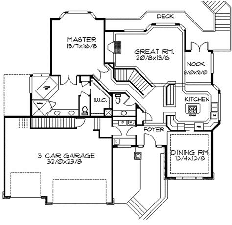 frank lloyd wright house floor plans frank lloyd wright inspired home plan 85003ms 1st floor master suite cad