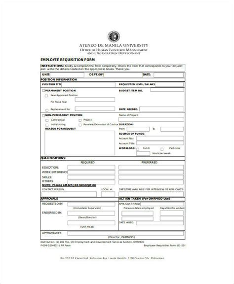 employee requisition form best resumes