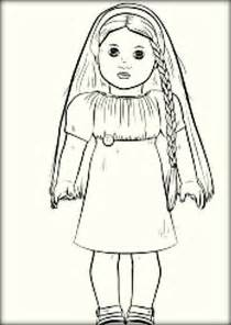 Julie American Doll Coloring Pages Coloring Pages