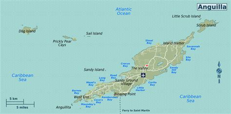 anguilla map detailed road map of anguilla anguilla detailed road map vidiani maps of all countries
