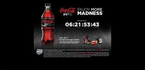 Coke Zero Sweepstakes - enjoymoremadness com coke zero bracket challenge promotion