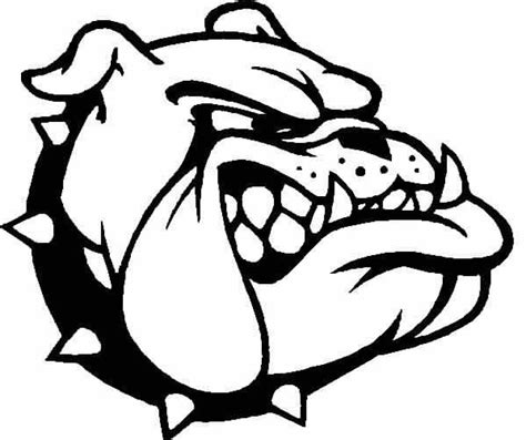 coloring pages of bulldogs ga bulldog colouring pages craft ideas outdoor water
