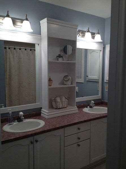 redone bathroom ideas large bathroom mirror redo to double framed mirrors and