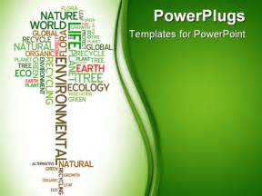 powerpoint template environment ecology environmental poster made from words in the