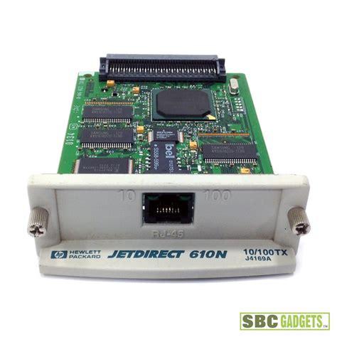 resetting hp jetdirect card hp jetdirect 610n eio 10 100tx ethernet print server card