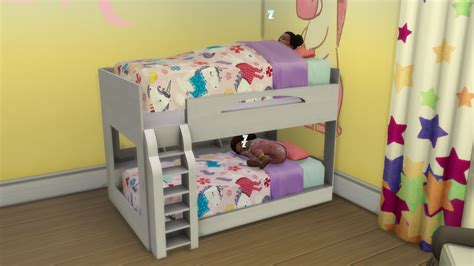 4 bed bunk bed sims 4 cc toddler beds