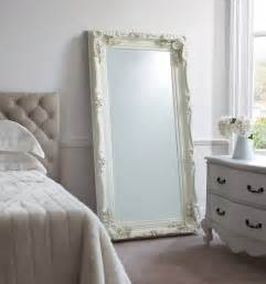 georgette carved white leaning mirror design vintage