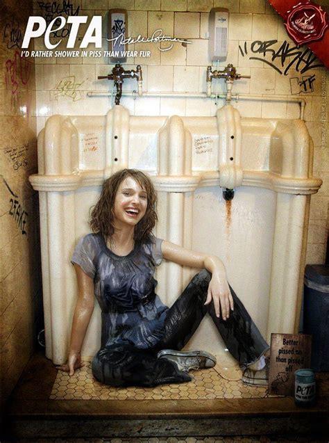 natalie portman bathtub natalie portman would rather shower in piss than wear fur