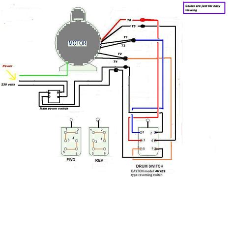 wiring diagram for 220 volt single phase drum switch