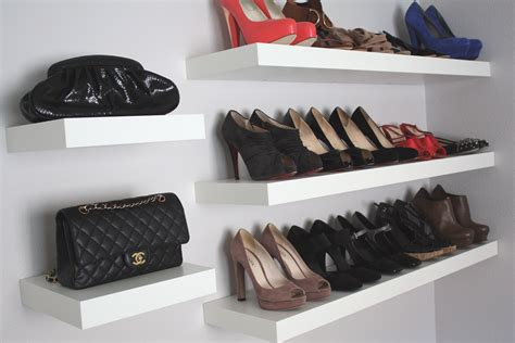 shelves for shoes interior wall mounted shelves design idea for shoe and boots in walk in closet inspiring