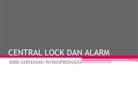 Alarm Mobil Dan Central Lock central lock dan alarm