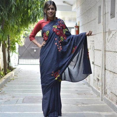 Patchwork Sarees - different types of patchwork saree simple craft ideas