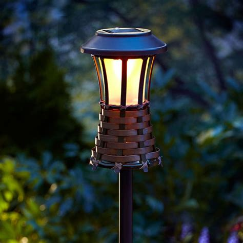 Outdoor Tiki Lights Flickering Tiki Lights Bamboo Torch Outdoor Tiki Lights