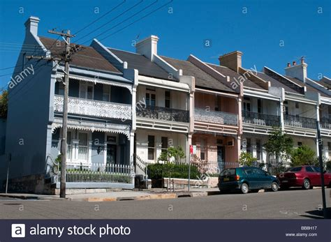 buying house in sydney a row of victorian terrace houses in the paddington suburb sydney stock photo