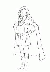 supergirl coloring pages free supergirl coloring pages az coloring pages