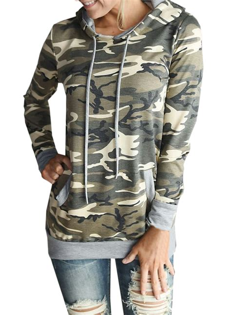 Camouflage Hooded Pullover s camo graphic hooded pullover sweatshirt novashe