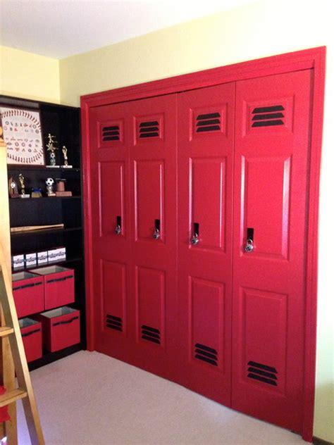 lockers for bedrooms baseball theme boys bedroom design