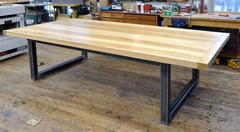 steel dining table base dorset custom furniture a woodworkers photo journal