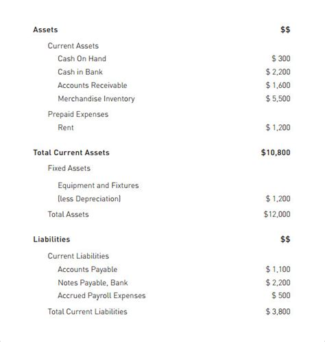 Checking Account Balance Sheet Template by Sle Balance Sheet 16 Documents In Word Pdf Excel