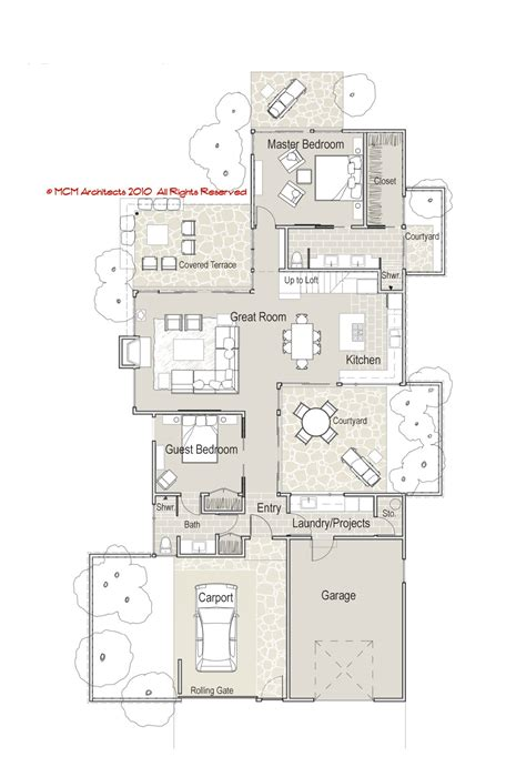 floor plans modern mcm design contemporary house plan 2